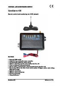 Remote control and monitoring via GSM network