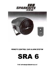 REMOTE CONTROL CAR ALARM SYSTEM