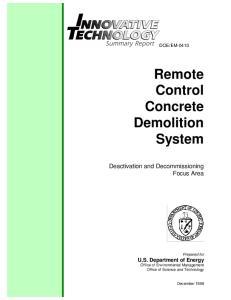 Remote Control Concrete Demolition System