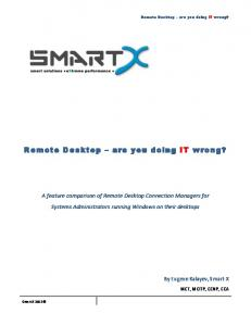 Remote Desktop are you doing IT wrong?