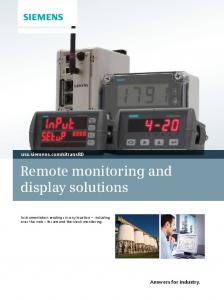 Remote monitoring and display solutions