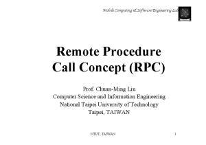 Remote Procedure Call Concept (RPC)