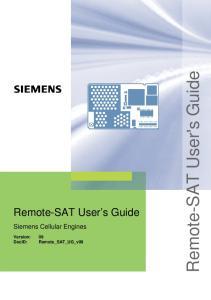 Remote-SAT User's Guide