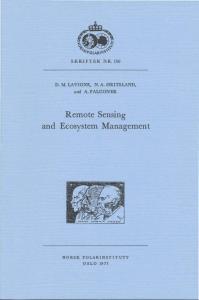 Remote Sensing and Ecos y stem Management