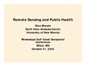 Remote Sensing and Public Health