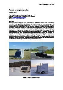 Remote sensing best practice