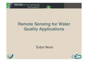 Remote Sensing for Water Quality Applications