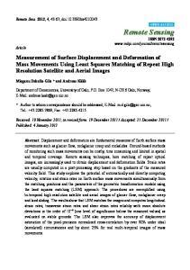 Remote Sensing ISSN
