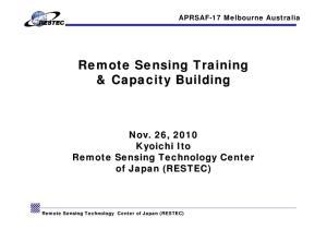 Remote Sensing Training & Capacity Building