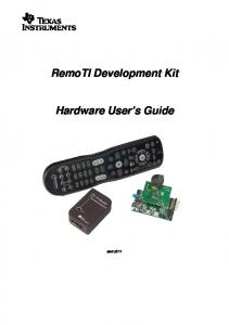 RemoTI Development Kit. Hardware User s Guide. swru211