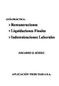 Remuneraciones Liquidaciones Finales Indemnizaciones Laborales