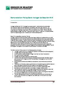 Remuneration Policy Bank Insinger de Beaufort N.V