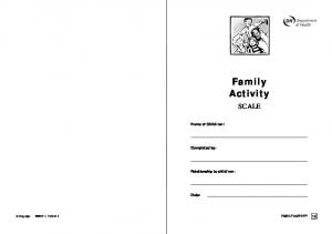 ren: Date: Copyright ISBN FAMILY ACTIVITY 1a
