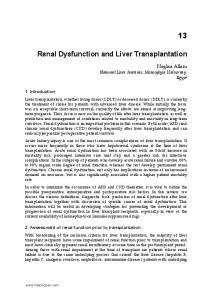 Renal Dysfunction and Liver Transplantation