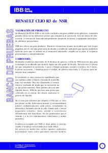 RENAULT CLIO R3 de NSR