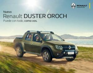 Renault Duster Oroch. Nuevo. Puede con todo, como vos