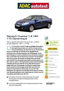 Renault Fluence V 110 Dynamique