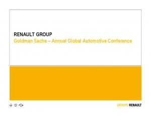RENAULT GROUP Goldman Sachs Annual Global Automotive Conference