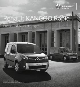 Renault KANGOO Rapid. Preise und Ausstattungen