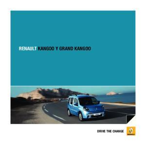 RENAULT KANGOO Y GRAND KANGOO DRIVE THE CHANGE
