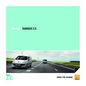 RENAULT KANGOO Z.E. DRIVE THE CHANGE *