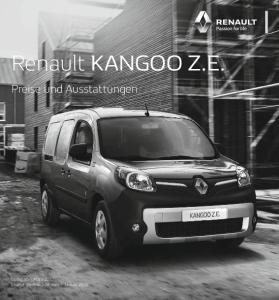 Renault KANGOO Z.E. Preise und Ausstattungen