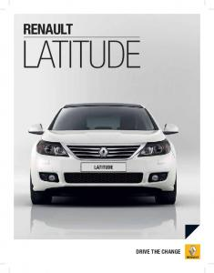 RENAULT LATITUDE DRIVE THE CHANGE