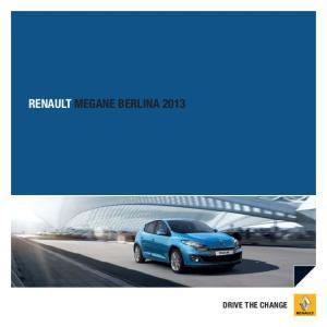 RENAULT MEGANE BERLINA 2013 DRIVE THE CHANGE