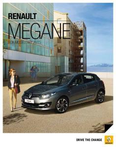 RENAULT MEGANE ROK MODELOWY 2015 DRIVE THE CHANGE