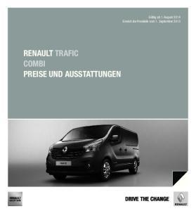 RENAULT TRAFIC COMBI PREISE UND AUSSTATTUNGEN DRIVE THE CHANGE