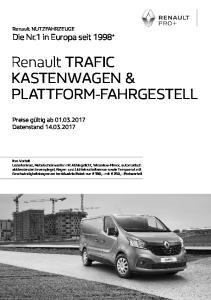 Renault TRAFIC KASTENWAGEN & PLATTFORM-FAHRGESTELL