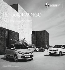 Renault TWINGO. Preise und Ausstattungen