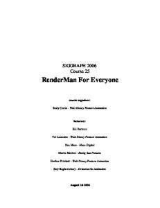 RenderMan For Everyone