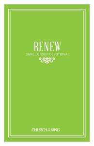 RENEW SMALL GROUP DEVOTIONAL