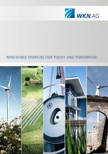 RENEWABLE ENERGIES FOR TODAY AND TOMORROW