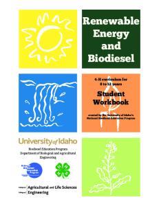Renewable Energy and Biodiesel
