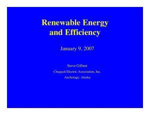 Renewable Energy and Efficiency