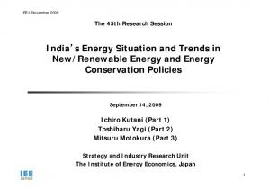 Renewable Energy and Energy Conservation Policies
