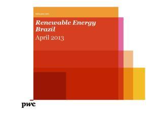 Renewable Energy Brazil April 2013