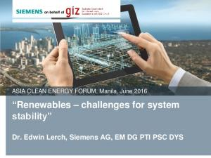 Renewables challenges for system stability