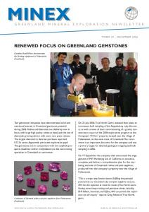 RENEWED FOCUS ON GREENLAND GEMSTONES