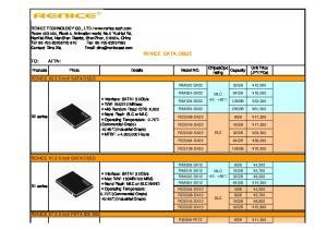 RENICE CATALOGUE. RENICE X1 2.5 inch SATAⅡSSD. RENICE E7 2.5 inch PATA IDE SSD