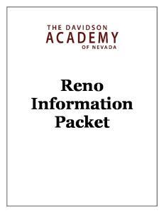 Reno Information Packet