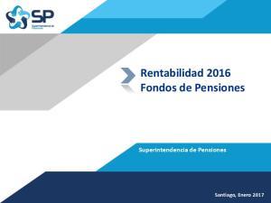 Rentabilidad 2016 Fondos de Pensiones