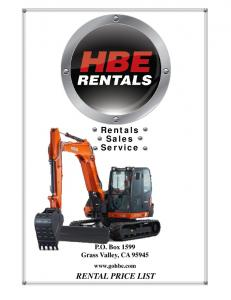 Rentals Sales Service