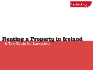 Renting a Property in Ireland. A Tax Guide for Landlords