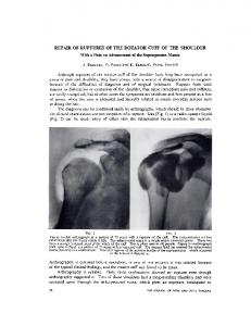 REPAIR OF RUPTURES OF THE ROTATOR CUFF OF THE SHOULDER