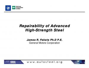 Repairability of Advanced High-Strength Steel