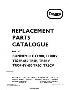 REPLACEMENT PARTS CATALOGUE