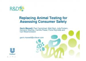 Replacing Animal Testing for Assessing Consumer Safety